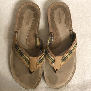 ☮️SPERRY TOP SIDER FLIP FLOPS;USED; SIZE 8